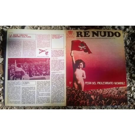 Tovaglietta Re Nudo anni 70 - Re Nudo N. 1