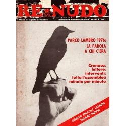 Re Nudo - Agosto - Settembre 1976